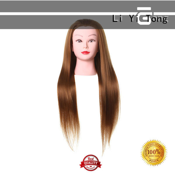 Li Yi Tong funky human hair mannequin head wholesale get quote for training