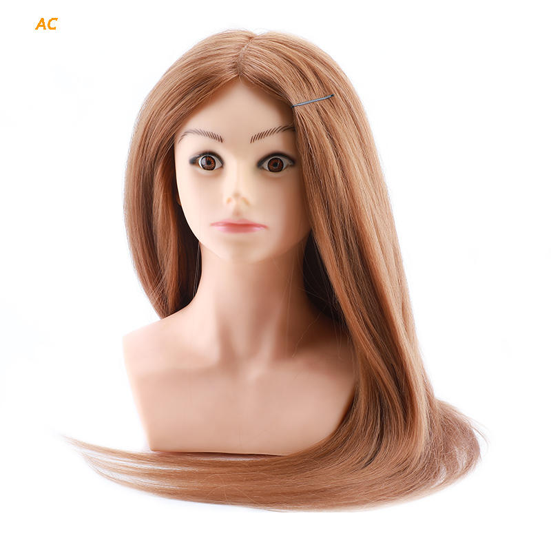 Hairdressing training head 80 human hair  practice mannequin head AC
