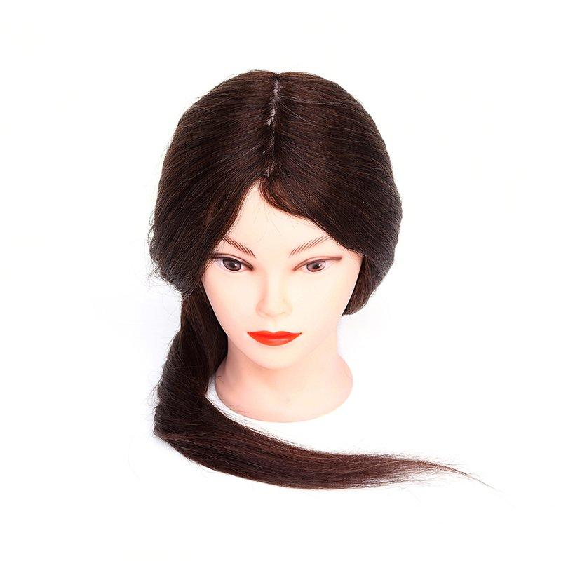 Hair salon practice heads hairdressing courses 100% long human hair mannequin head A6