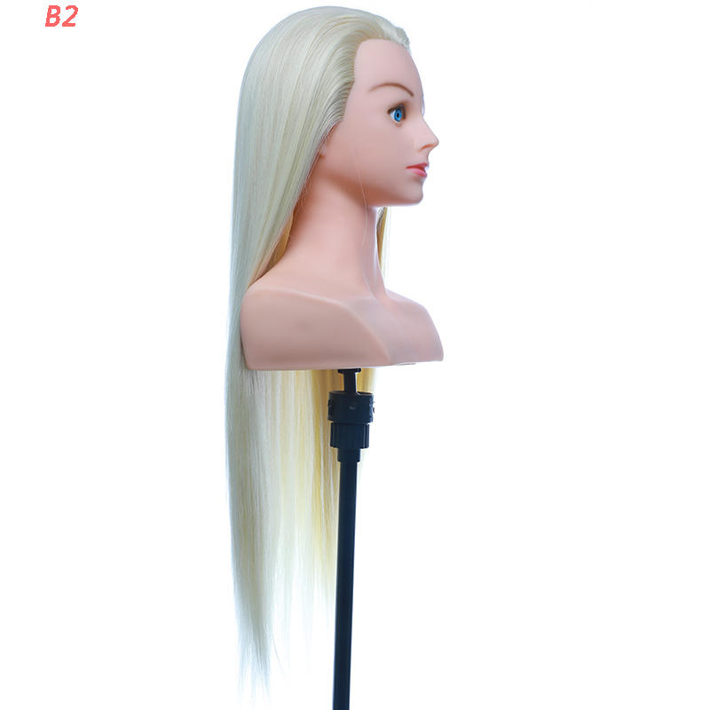 Best synthetic wigs original hair dummy practice makeup doll head B2