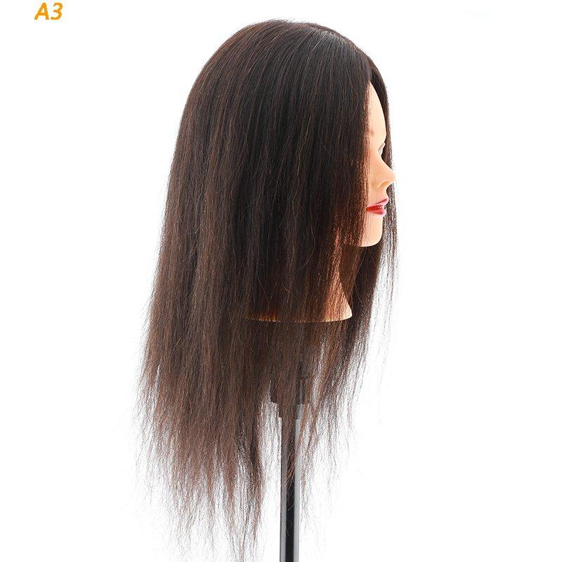 Li Yi Tong funky cosmetology mannequin head human hair free sample for barberhead