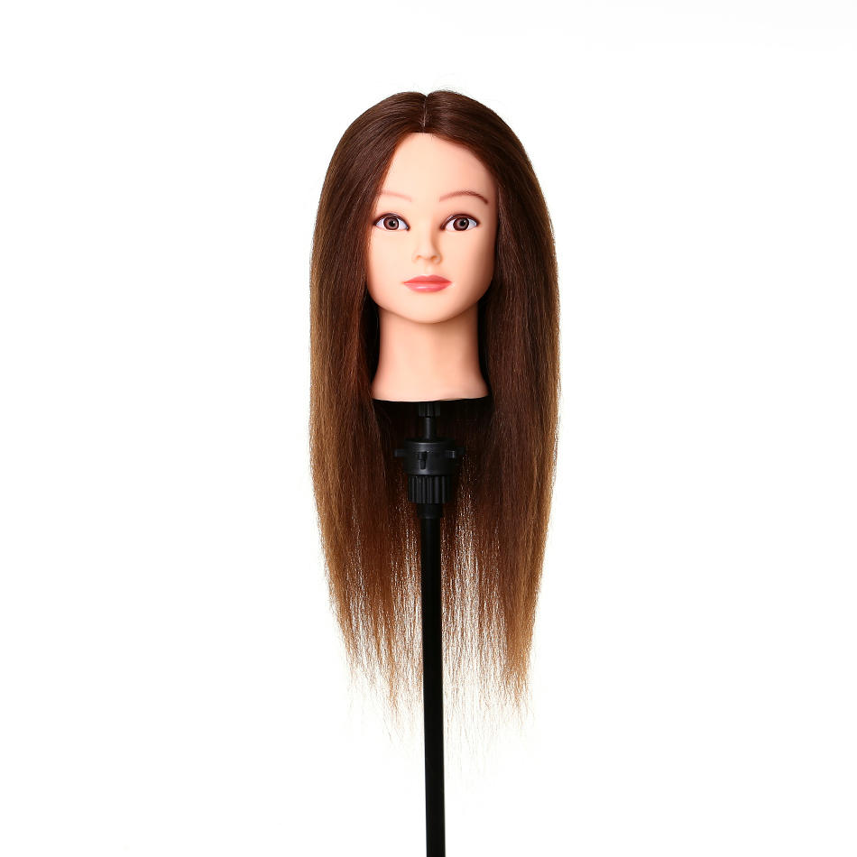 Manikin heads for hairdressing  cosmetology mannequin head 100 human hair A5