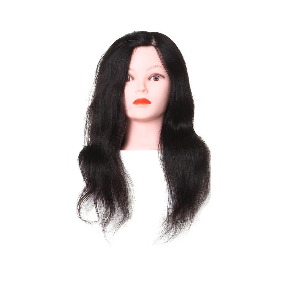 Hairdressing hair stylist practice heads real hair  AAA