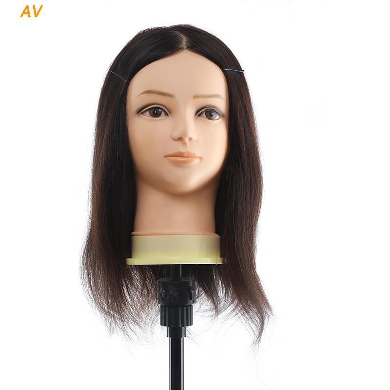 Hairdressing head hair salon practice real hair mannequin heads - AV