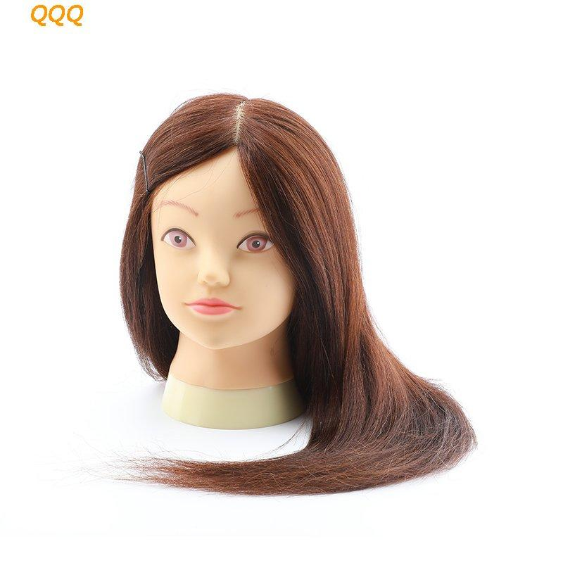 Hairdressing dolls head real hair mannequin head - QQQ