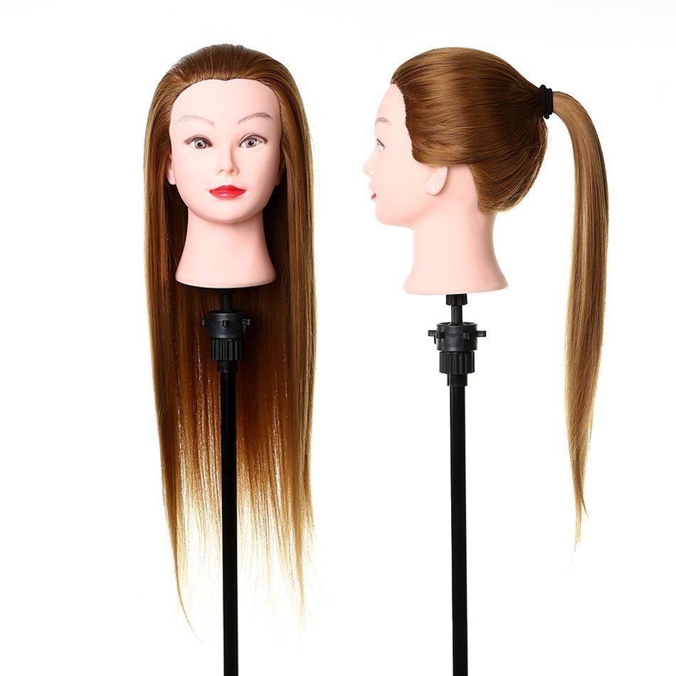Synthetic Fiber hair mannequin doll head- 27