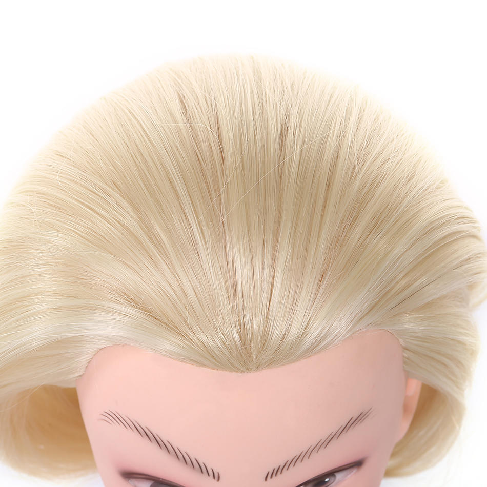Mannequin stand cosmetology heat resistant synthetic hair practice makeup doll head 1802