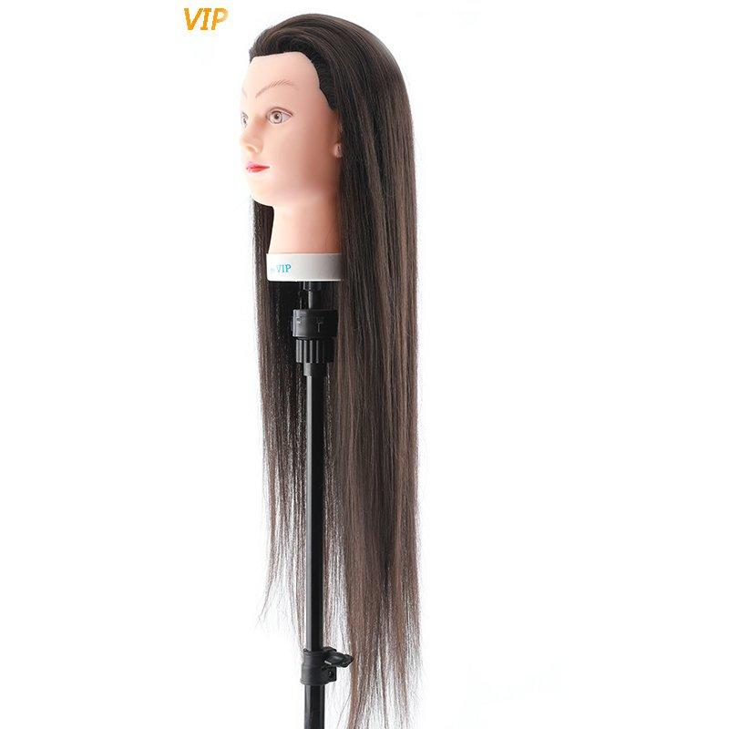 Synthetic long hair  best synthetic wigs practice mannequin head human hair -VIP