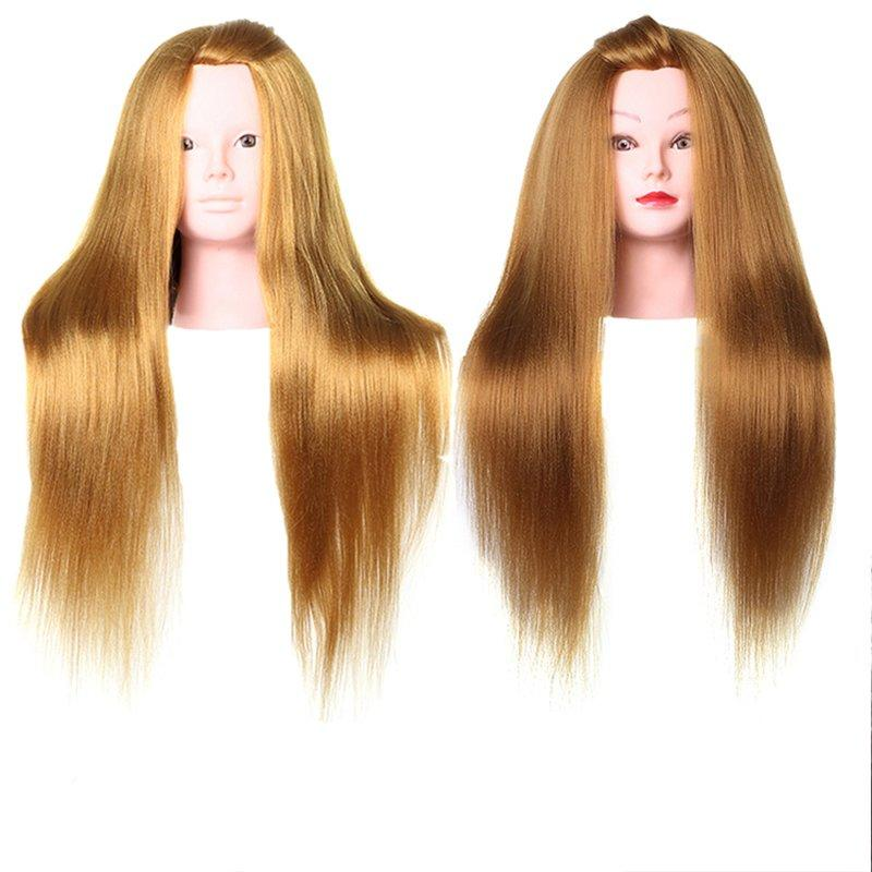 Makeup  braiding  synthetic fiber hair kids doll head -YK