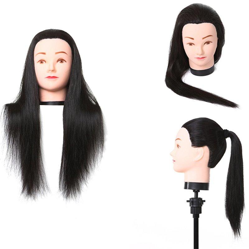 Direct sale low temperature silk doll head practice haircut head die-b jia
