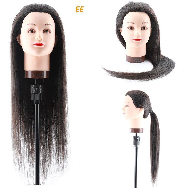 Long hair manikin head plastic doll heads  -EE