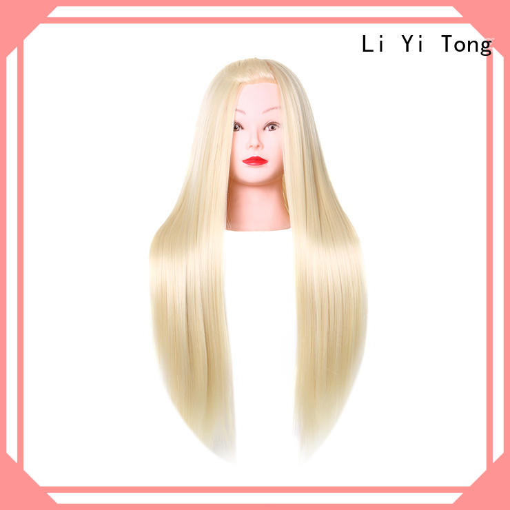 Li Yi Tong salon mannequin head with hair for sale free sample for girls