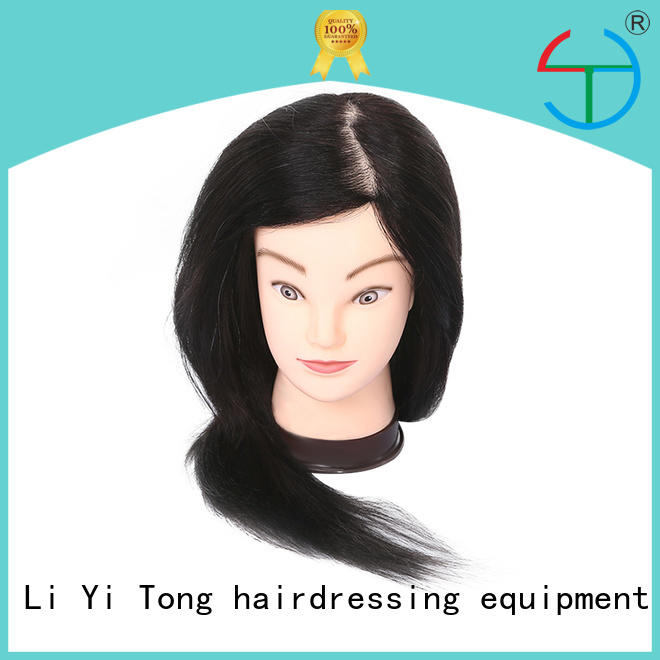 latest cosmetology mannequin manikin training head with human hair OEM for long hair Li Yi Tong