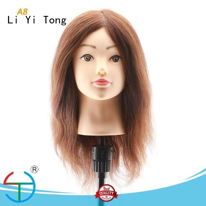 funky human hair training mannequin head supplier for girls