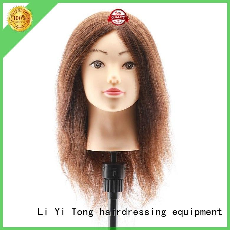 Li Yi Tong av black mannequin head with human hair Purchase for girls