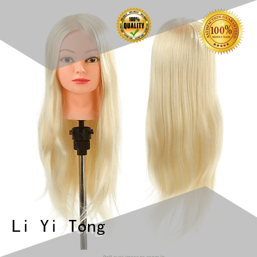 ttt black mannequin head with human hair OEM for girls Li Yi Tong