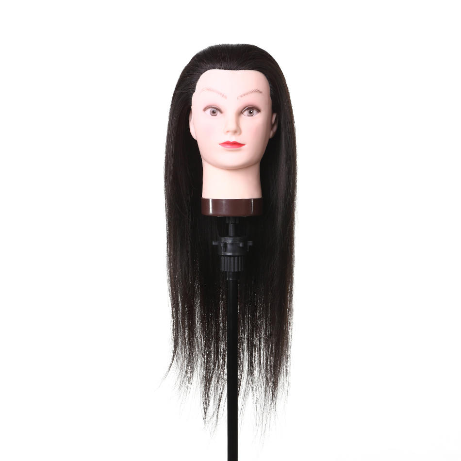 human hair mannequin heads for sale practice for training Li Yi Tong