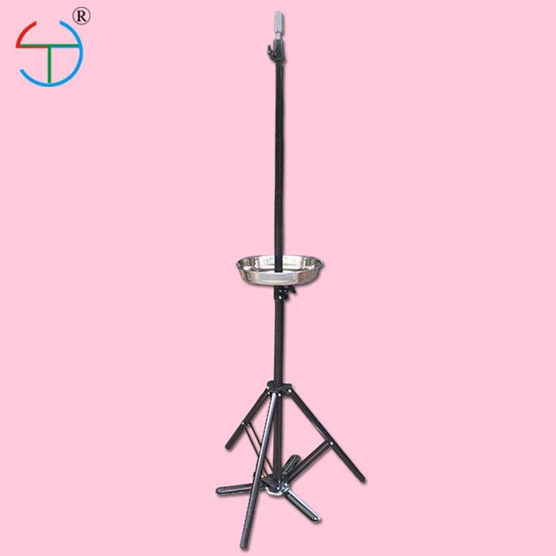 Mannequin Head Holder Disc Tripod Stand Adjustable Hairdresser Cosmetology