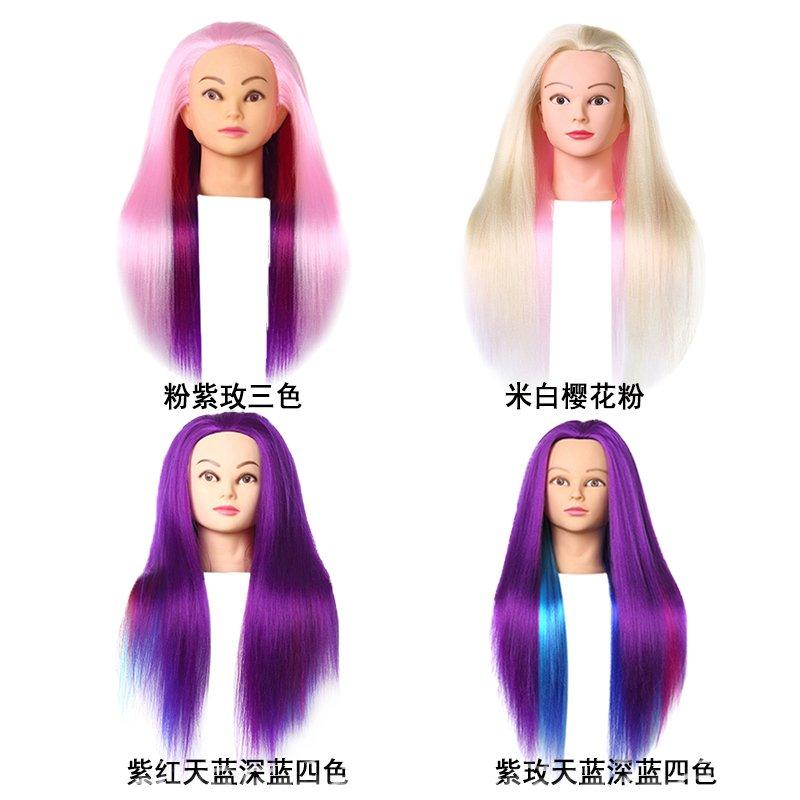 Cosmetology mannequin dolls with  hair manikin head hairdressing dolls head