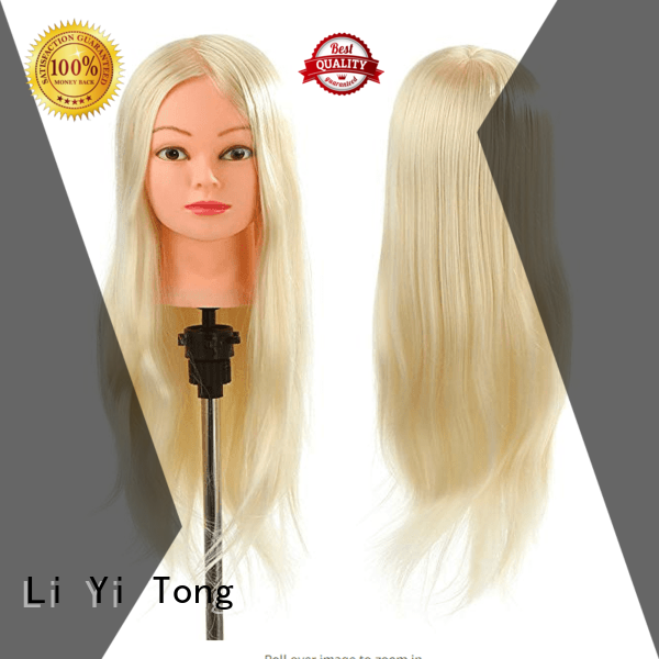 Li Yi Tong braiding practice mannequin head human hair for wholesale